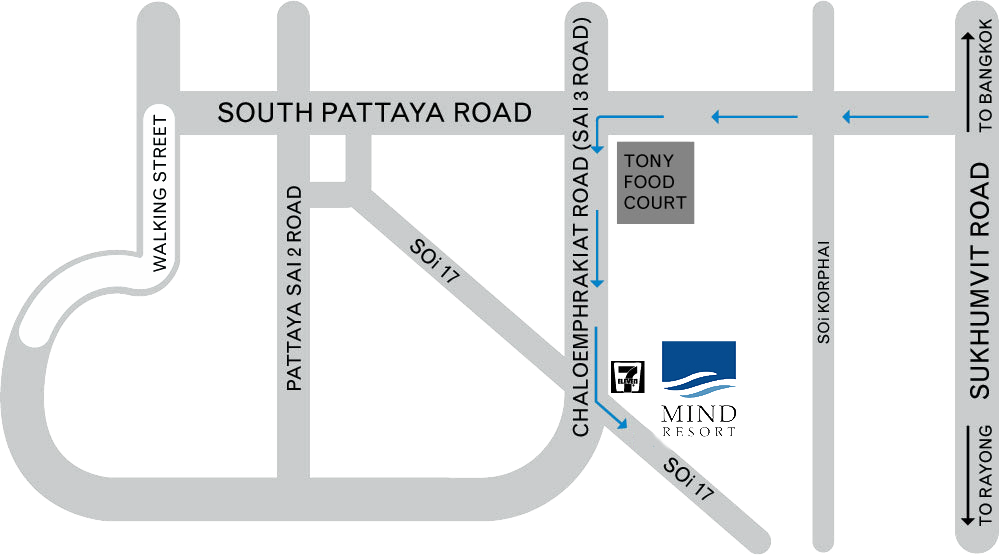 Mind Resort Pattaya - location Map